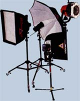 animated picture of professional video lighting